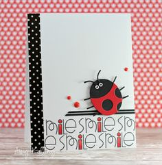 Smile #card by Amy Kolling for #PaperSmooches #BuildABug