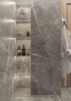 COCOON marble bathroom design inspiration high e Bathroom Design Inspiration, Bad Inspiration, Modern Bathroom Design, Bathroom Interior Design, Modern Design, Modern Interior, Modern Luxury, Scandinavian Interior, Kitchen Design