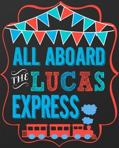 All Aboard Sign great Welcome SIgn for a by CustomPrintablesNY, $9.00
