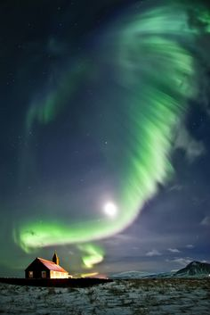 Northern lights in Iceland. See more here: http://www.northernlightsiceland.com/