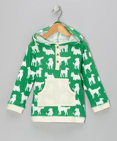 Green Dog Organic Henley Hoodie by violet + moss