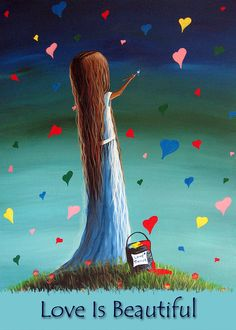 Love Is Beautiful by Shawna Erback Painting  - Love Is Beautiful by Shawna Erback Fine Art Print