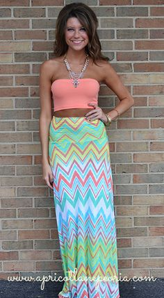 Party Print Maxi Skirt, $40.00 Digging this whole outfit!