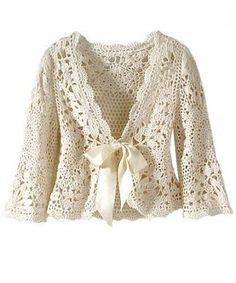 Japanese Crochet Cardigan  Site has chart