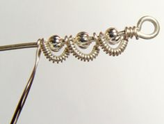 Wire wrapping. Earrings. Tutorial