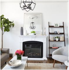 Keeping the fireplace mantle white allows the beautiful details to stand out! Scott Mcgillivray, Diy Network, Fireplace Mantle, Hgtv, Architecture Details, Fixer Upper, Cave, Shabby, Victorian