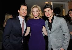 Pin for Later: The Hot Oscars Parties You May Have Missed  Cate Blanchett had some handsome company at her event with Roberta Armani: she posed for a picture with Matt Bomer and Gregg Sulkin.
