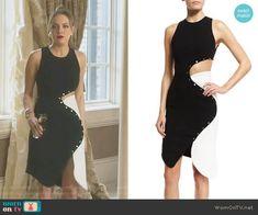 Fallon's black and white studded dress on Dynasty Mode Outfits, Chic Outfits, Dress Outfits, Fashion Dresses, Dress Up, Studded Dress, Donna Suits, Beautiful Dresses, Nice Dresses