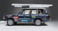 expedition prepared range rover. Trans-American expedition, Alaska to Cape Horn.
