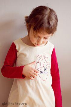 craft, embroideri pattern, valentine day, heart shirt, diy freezer paper stencil