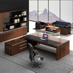 Source High Quality Luxury Commercial Furniture Office Standing Table Unique Exe… – Executive Home Office Design Office Table Design, Modern Office Design, Office Furniture Design, Office Interior Design, Office Interiors, Modular Furniture, Furniture Showroom, Executive Office Desk, Executive Room