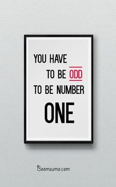 cool Inspirational Quotes: Be Number One. Always Positive quotes for each day