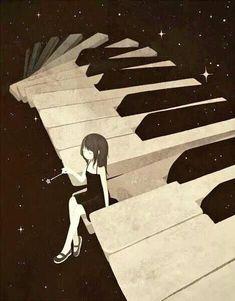 Suona la notte quella soave melodia di stelle Note sussurrate dal cielo a chi attende l'avverrarsi del sogno #notte