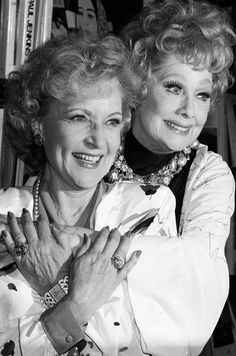 Betty White and Lucille Ball, 1987