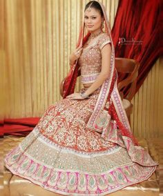 Lehenga is very popular as bridal attire globally, but nowadays. Every bride prefers to wear Designer Bridal Lehenga as its highlight their features in a better way. Red shades are always in demand for the wedding, Walima Dress, Pakistani Wedding Dresses, Wedding Dress Trends, Indian Dresses, Indian Clothes, Wedding Outfits, Indian Outfits, Pakistan Wedding, Designer Bridal Lehenga