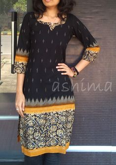 Code:2604150 Rs.1490/- Size XS/S/M/L/XL/XXL Free Shipping to all courier destinations in India Kurta Designs Women, Kurti Neck Designs, Dress Neck Designs, Salwar Designs, Blouse Designs, Salwar Pattern, Kurta Patterns, Blouse Patterns, Kalamkari Designs