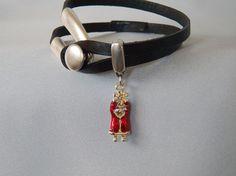 Black Leather Santa Claus Charm Bracelet http://sisters-cc-zj.com/