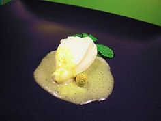 Coconut Ice Cream with Mint and Szechuan Button Foam