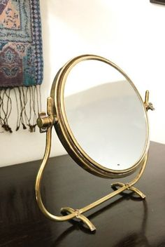 Vintage Vanity Mirror With Swivel Magnified Mirror