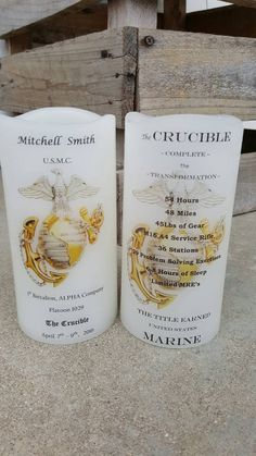 Check out this item in my Etsy shop https://www.etsy.com/listing/287145691/marine-corps-crucible-candle-have-it
