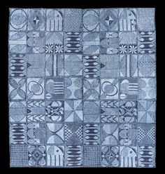 This is an Adire design from the Yoruba Tribe. This piece is called 'Ibadandun'.
