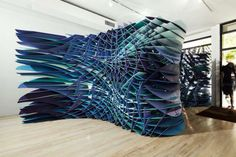FreelandBuck - Slipstream installation at the Bridge Gallery in New York.