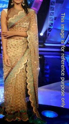 Buy Sonam kapoor golden net saree Online