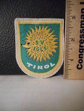 849A. Tyrol Austria Travel Souvenir Patch Hedgehog