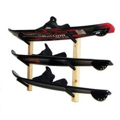 Del Sol Racks Water Ski Storage 3 Space Level by Del Sol Racks. $55.00. Closed cell foam Padding on the arms to protect your skis. No Assembly Required. Simple and Clean Design. Mounting Hardware and screw hole plugs provided. Stylish Stained Finish with routered corners. WSKA3 Features: -Ski storage.-Material: Pine.-Holds three (3) water skis in a 30 degree angle.-All mounting hardware and screw hole plugs provided.-Ideal storage for almost anywhere.-High quality cl...