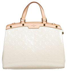Louis Vuitton Perle Vernis Patent Leather Brea Gm Handbag White Tote Bag $2,595