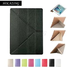 Holazing Bushed Magnet Tri-fold Stand Cover For Ipad 2 3 4 9.7 Anti-shock Drop Smart Sleep Wake Up Ultra Thin Pu Leather Case Tablets & E-books Case