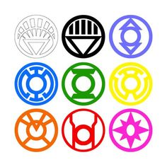 All Lantern Corps Logos Vinyl Decals by FrIssacsCreations on Etsy, $20.00