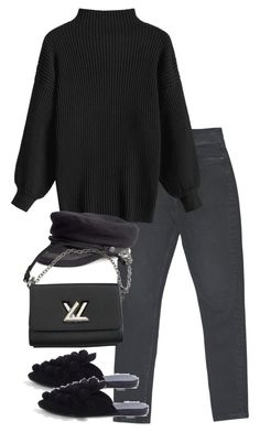 """""""Untitled #4935"""" by theeuropeancloset on Polyvore featuring Topshop, H&M and Louis Vuitton"""