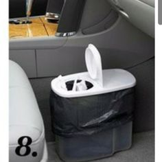 Trash can for the car