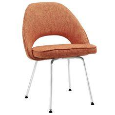 Plutus Brands MF0413 Dining Fabric Side Chair, Orange