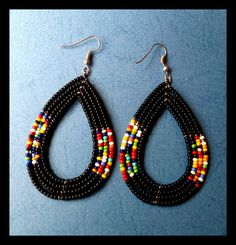 Maasai earrings Beaded earring Kenyan earrings Masai
