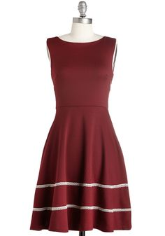Fun-day Best Dress in Bordeaux. Savor a fun-filled day at the fair in this festive burgundy dress by Fleet Collection. #red #modcloth