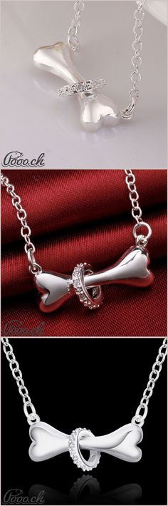 Beautiful Dog Bone Necklace | Pooo.ch http://www.thesterlingsilver.com/product/925-sterling-silver-cubic-zirconia-cz-6mm-star-stud-earrings-unisex-brand-new-boxed/