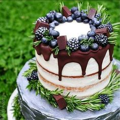 Cake - DEFINITELY NOT JUST A CAKE!! - THIS CAKE IS AMONGST MY FAVOURITES! -SO INCREDIBLY BEAUTIFUL,SO WELL THOUGHT OUT, & THE BASE MATCHES THE BERRIES!!