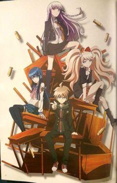 Dangan-Ronpa-Danganronpa-Anime-Manga-Game-Naegi-Kirigiri-Maizono-Junko-Poster-1