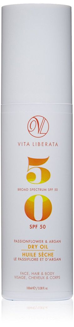 Vita Liberata Passionflower and Argan Dry Oil Broad Spectrum SPF 50, 3.38  Fl Oz >>> This is an Amazon Affiliate link. You can get additional details at the image link.