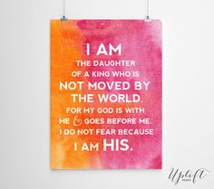 The Daughter Of A King - Christian Quotes 8 x 10 by Uplift Prints