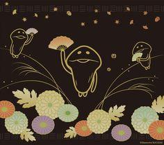 なめこ壁紙 Wallpaper  Funghi Gardening