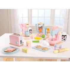 KidKraft Pastel Play Kitchen Accessories 4pk - Walmart.com