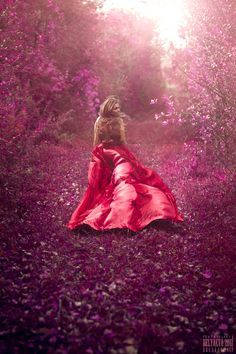 Every time she dashed out to meet him in the orchard in secret, she felt hope swell in her heart, and she couldn't help noticing that the world turned lavender & crimson to match her desire. Must be fairy magic...