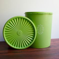 Vintage Tupperware(My mom sold Tupperware. I have 2 of these in this same color) Tupperware Logo, Tupperware Canisters, Tupperware Storage, Vintage Tupperware, Vintage Kitchenware, Remembering Mom, Really Cool Stuff, Interesting Stuff, Retro Vintage