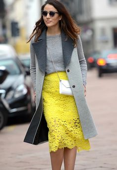 yellow pop of color. #MFW