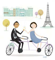 Paris on a bike
