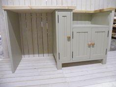 Handmade kitchen Belfast/Butler Sink Unit with open appliance housing (BBC66)