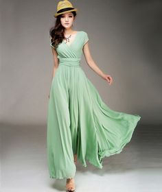 beautiful mint spring long dress, love it!